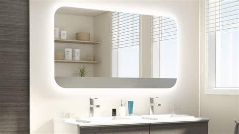 bains de si e miroir salle de bain eclairant pas cher
