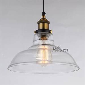 Vintage edison glass chandelier pendant light ceiling