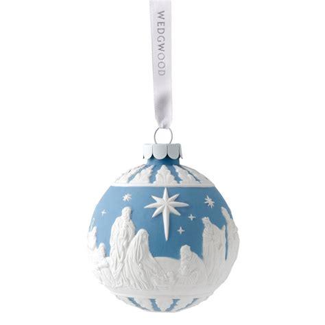 28 wedgwood nativity ball christmas ornament