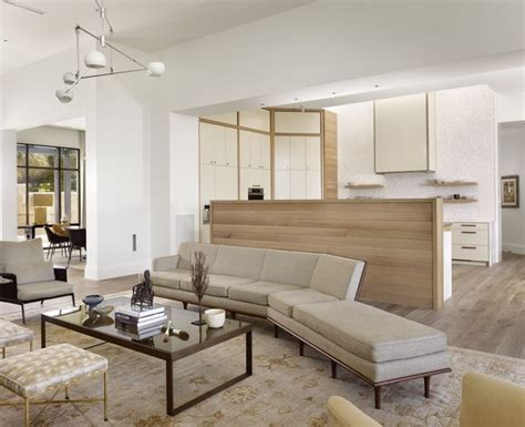 41071 modern living room with open kitchen modern villa living room kitchen contemporary