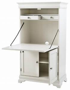 Louis Philippe Secretary Desk, Polar White - Desks And