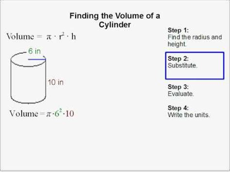 find  volume   cylinder youtube