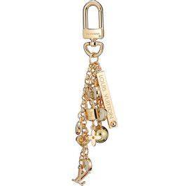 louis vuitton white monogram key chain gold balllock decorations copy america