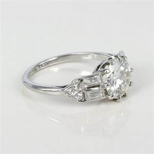 vintage art deco engagement rings wedding promise With art deco style wedding rings