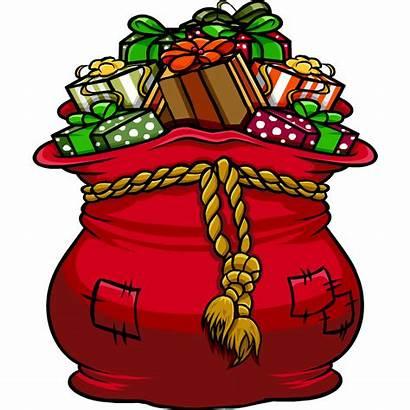Bag Santa Gift Clipart Present Santas Christmas