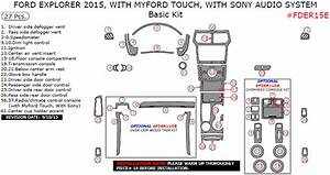 Ford Explorer 2015 Basic Interior Dash Kit  With Myford