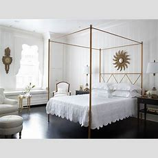 Gold Canopy Bed  Transitional  Bedroom  Eva Quateman