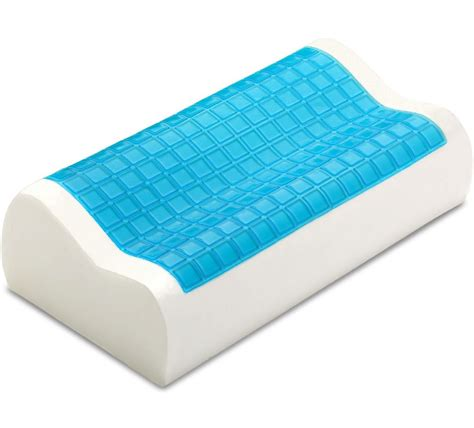 cooling gel pillow pharmedoc contour memory foam comfort cooling gel pillow