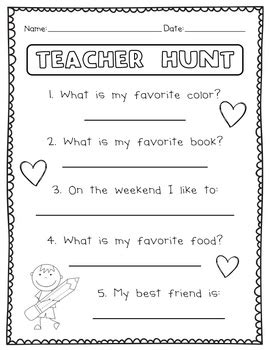 back to school activities by the teachers