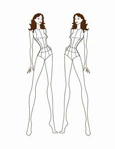 The gallery for --> Female Fashion Figure Templates Front ...