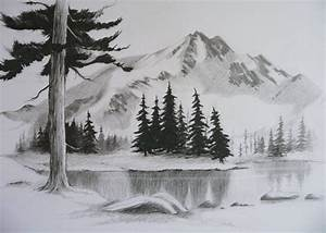 easy pencil drawings of landscapes - Google Search ...