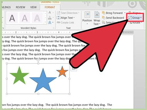 word objects microsoft steps step
