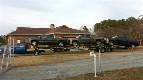 Kaufman Wedge Trailer, Loaded Up With 3 Chevys