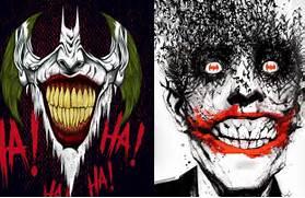 Joker Comic Art Laughi...