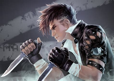anime fight boy original anime boy males warrior fight weapons