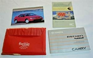 1992 Toyota Camry Owners Manual Guide Book Set With Case