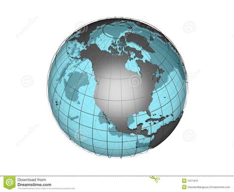 globe model showing north america stock