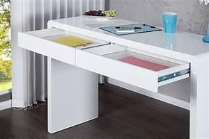 Design Schreibtisch Weiß : design schreibtisch boston hochglanz weiss 120cm dunord design ~ Frokenaadalensverden.com Haus und Dekorationen