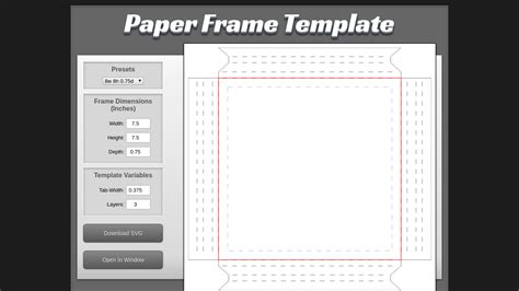 css template box text image paper cut template maker