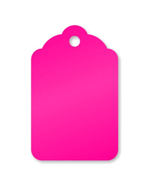 Fluorescent Pink Merchandise Tags - Retail Price Tag, SKU