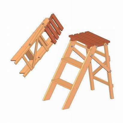 Ladder Step Folding Stool Plan Plans Chair