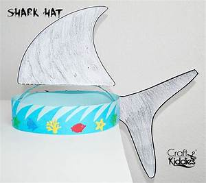 17 best images about shark week on pinterest crafts With shark hat craft template