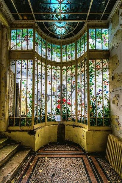 Abandoned Glass Deco Stained Mansions Window Paris