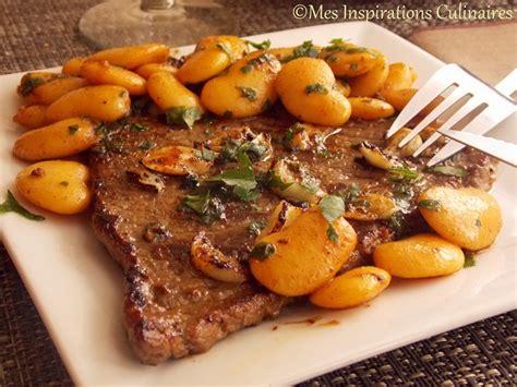 recette de cuisine marocaine facile et rapide steak à l 39 ail haricots blancs sautées le cuisine