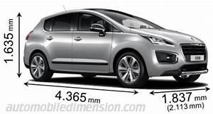 Taille Coffre 3008 : dimensions des voitures peugeot avec longueur largeur et hauteur ~ Medecine-chirurgie-esthetiques.com Avis de Voitures