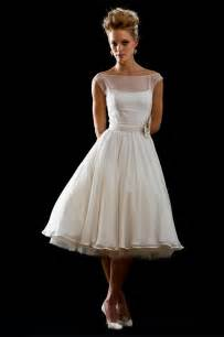 tea length ivory wedding dresses sangmaestro