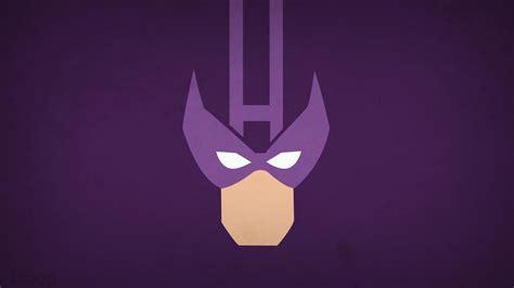Minimalistic superheroes marvel comics hawkeye purple