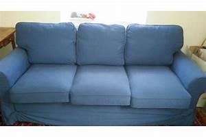 Ikea Ektorp 3er : ikea ektorp 3er bettsofa mit bezug pixbo blau in m nchen polster sessel couch kaufen und ~ Eleganceandgraceweddings.com Haus und Dekorationen