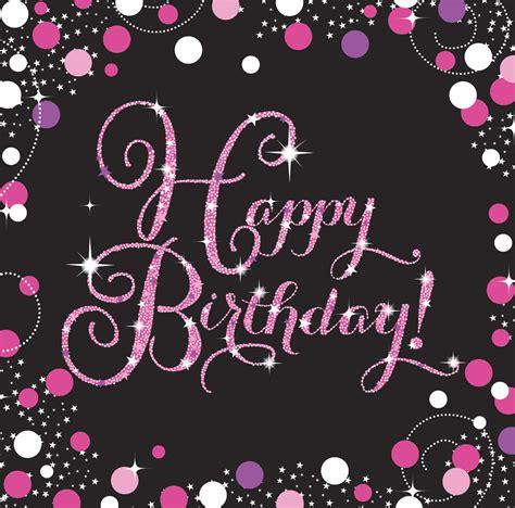 servietten geburtstag praegung happy birthday pink schwarz