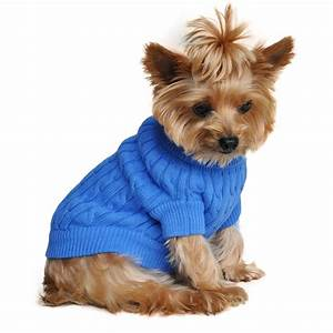 Cable Knit Dog Sweater by Doggie Design - Riverside Blue ...