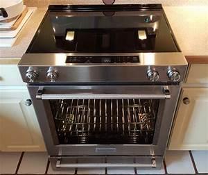 KitchenAid 30 in 6 4 cu ft Slide-In Electric Range in