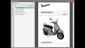 Vespa Gts 250 - Service Manual    Repair Manual