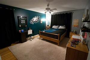 eagles football bedroom for kid modern bedroom With kitchen cabinets lowes with philadelphia eagles wall art