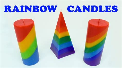 diy    rainbow candle colorful candle making