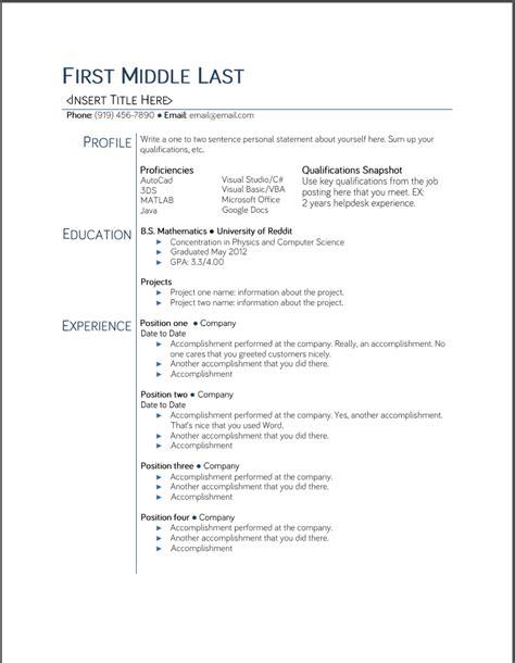 college student resume templates microsoft word google
