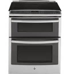 """GE Profile™ Series 30"""" Slide-In Double Oven Electric"""