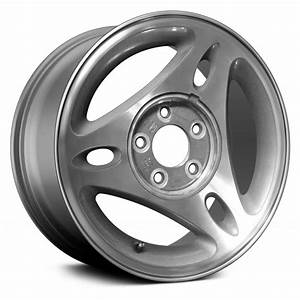 """Replace® ALY03172U20 - Ford Mustang 2000 15"""" Remanufactured 3 Spokes Silver Factory Alloy Wheel"""