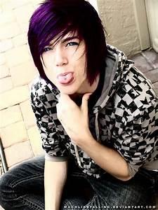 Purple hair by Quasha on DeviantArt