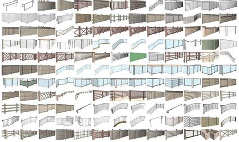 instant fence  railing    plugin  sketchup