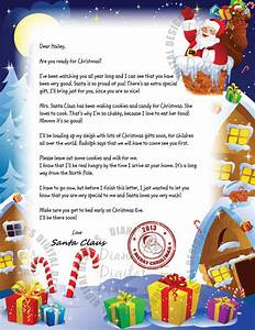 Items similar to personalized letter from santa claus for Customized santa letters for free