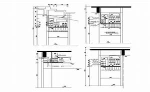 Solar Panel Cad Drawings 2d View Layout Autocad