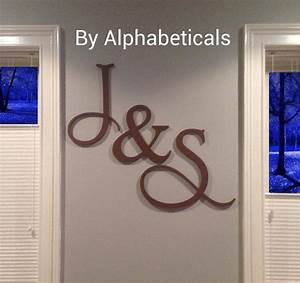 his and hers wooden letters wall decor wooden signs wall With large initial letters wall decor