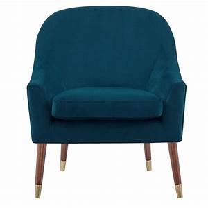 Fauteuil Velours Bleu : fauteuil atlanta en velours bleu commandez nos fauteuils atlanta en velours bleus rdv d co ~ Teatrodelosmanantiales.com Idées de Décoration