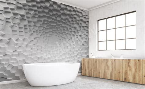 salle de bain papier peint papiers peints salle de bains mur aux dimensions myloview fr