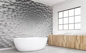Papier Peint Pour Salle De Bain : papiers peints salle de bains mur aux dimensions ~ Dailycaller-alerts.com Idées de Décoration