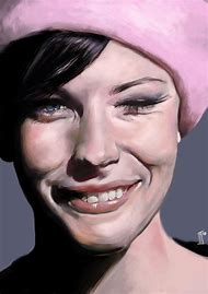 Smiling Woman Portrait Painting